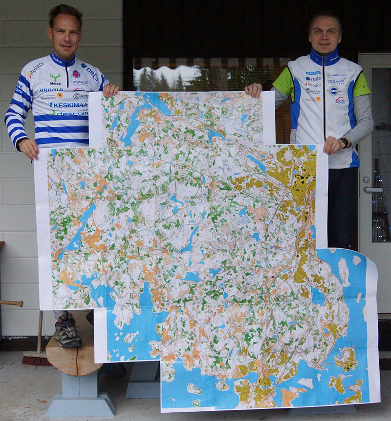 The largest orienteering map